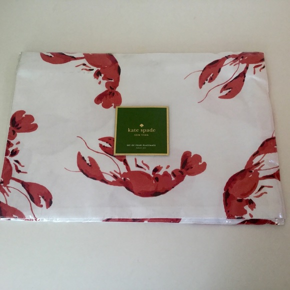 best sneakers 08267 0ef78 Kate Spade LOBSTER FETE placemats NWT NWT